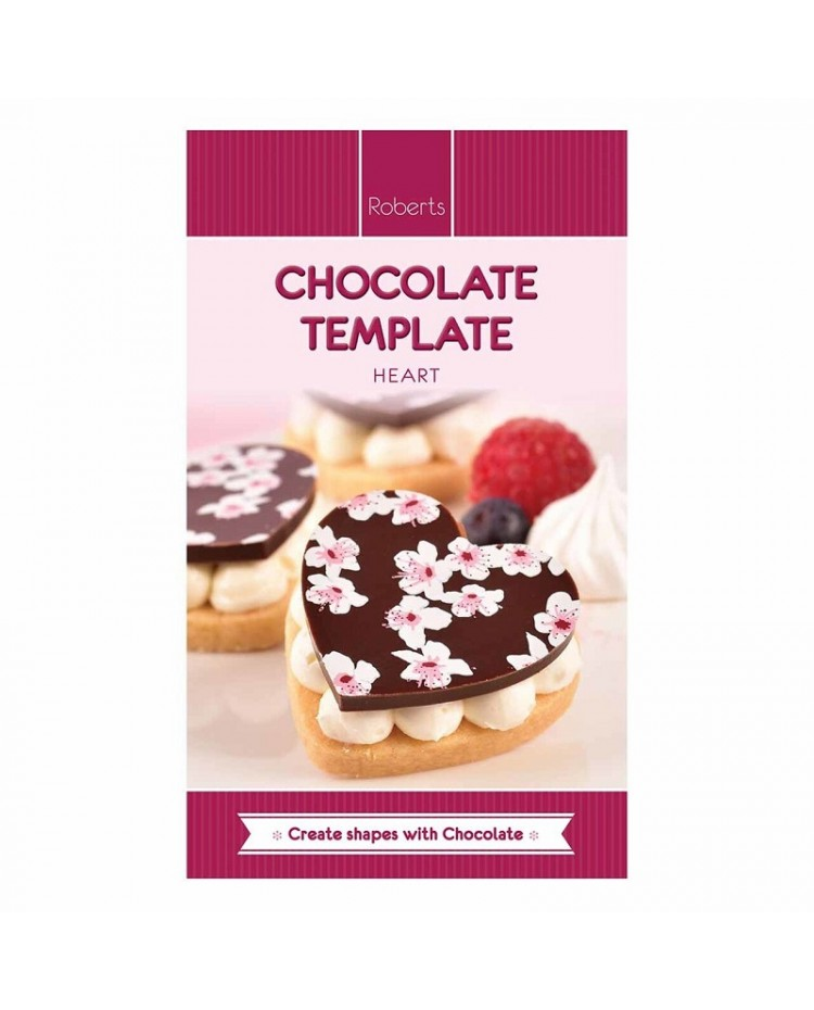 HEART Chocolate Template Chablon Mat