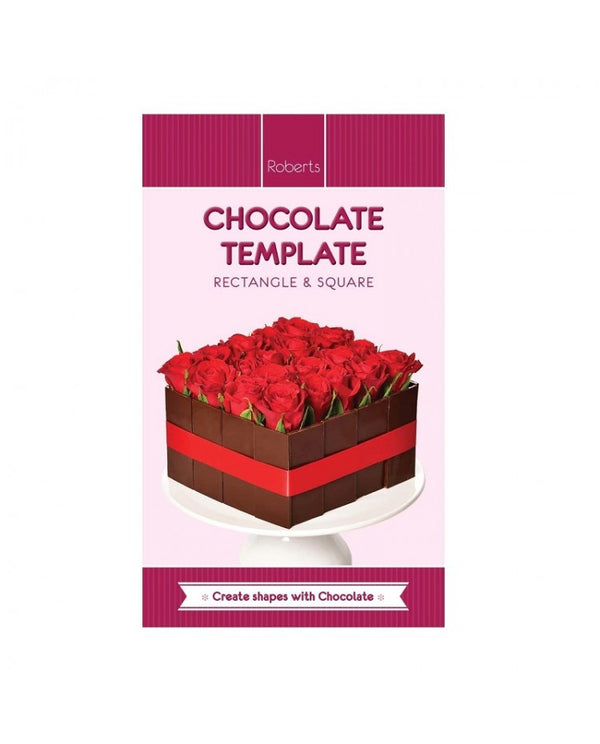 RECTANGLE SQUARE Chocolate Template Chablon Mat