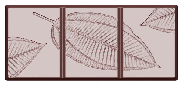 Chocolate Mould - Bar Fossil Leaf - Polycarbonate