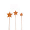 Cake Toppers - Trio of Stars - Rose Gold Plated