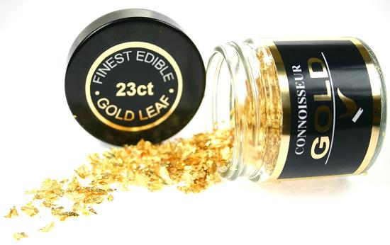 23ct Edible Gold Flakes 100mg - by Connoisseur Gold