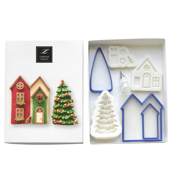 Cookie Decoration Kit - House & 3D Tree