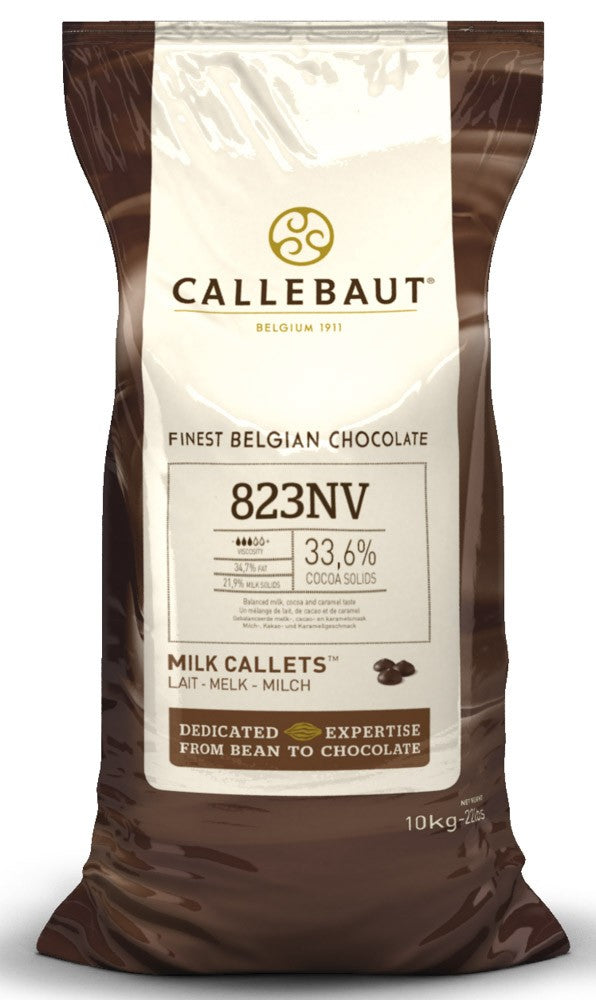 Callebaut Milk Couverture Chocolate Callets (Melts) 33.6% - 10kg BULK - BY SPECIAL ORDER
