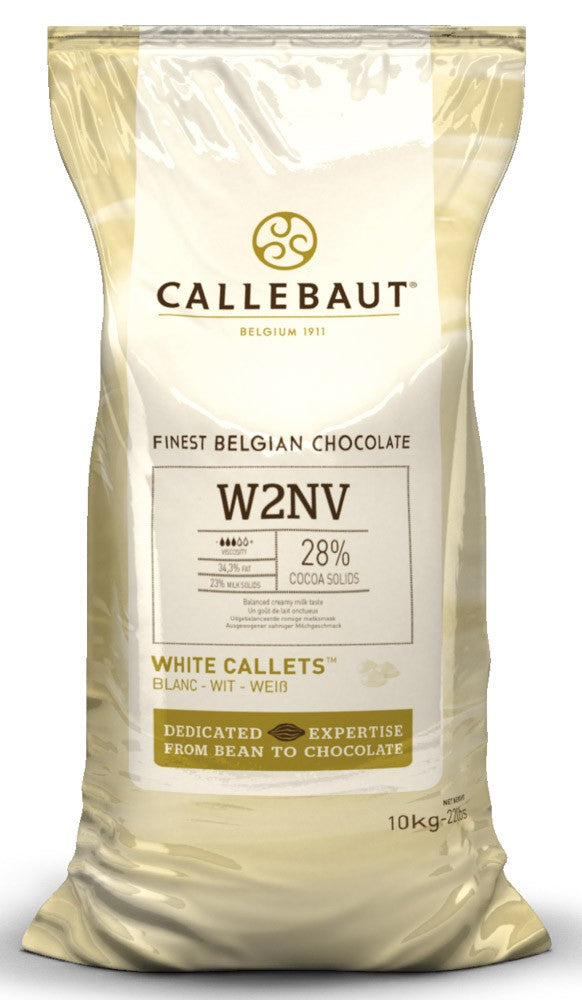 Callebaut White Couverture Chocolate Callets (Melts) 29.5% - 10kg BULK - BY SPECIAL ORDER