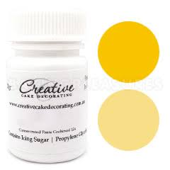 Creative Natural Paste Colours - Yellow - 20g