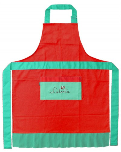 Latorta Signature Apron in Red