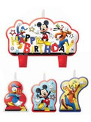 Mickey Mouse Candle Set 4 Pc