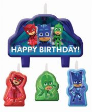 PJ Mask 4 Pce Candle Set