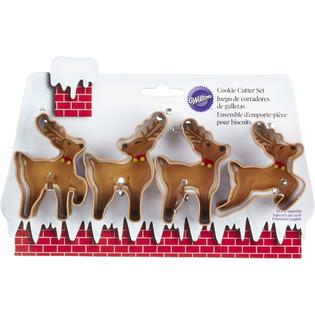 Reindeer Family Cookie Cutter Set 4pc - Wilton Christmas