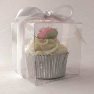 Clear Cupcake Box - Single Hold - 9x9x8cm
