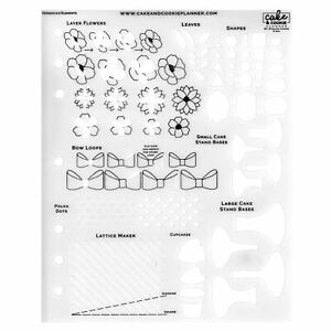 Elements Cake Sketching Templates - Avalon Cakese