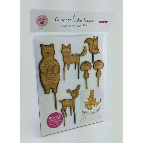 Woodlands – Wood Cake Topper Set