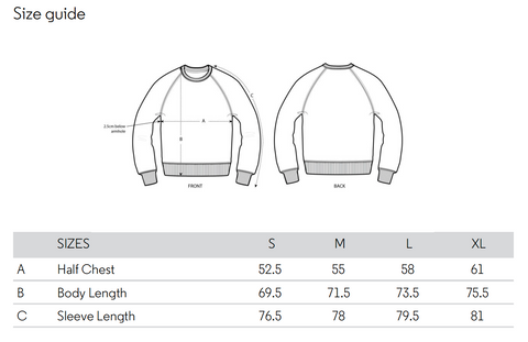 Fulong Sweater Sizes