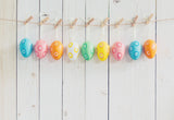 White Wood Wall Eggs Easter Photo Backdrops