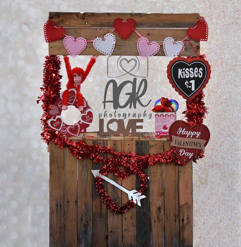 Valentine's Day  Kissing Photography Backdrop for AGR Photography