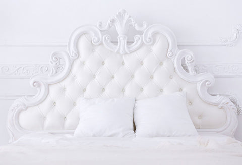 White Headboard Room Decor Backdrops