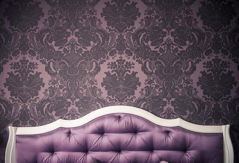 Purple Headboard Room Decor Photography Backdrop for Picture