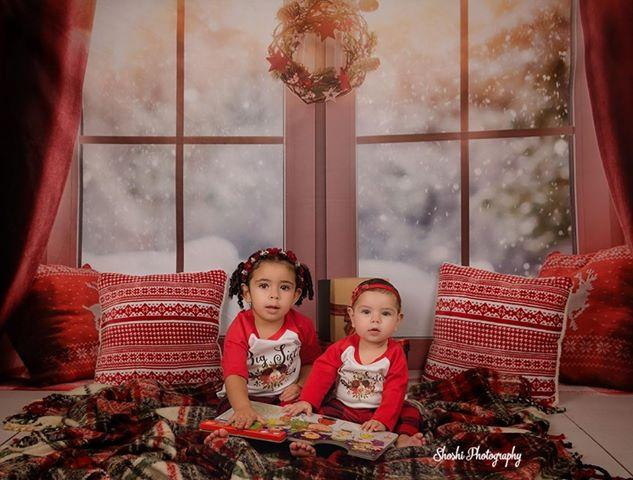 Window Christmas Photography Backdrops for Picture