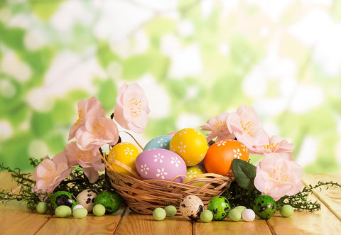 Spring Garden Easter Photography Backdrops for Picture