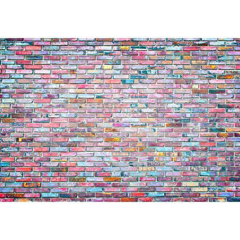 Colorful Graffiti Brick Wall Party Decoration Background Rubber Floor Mat