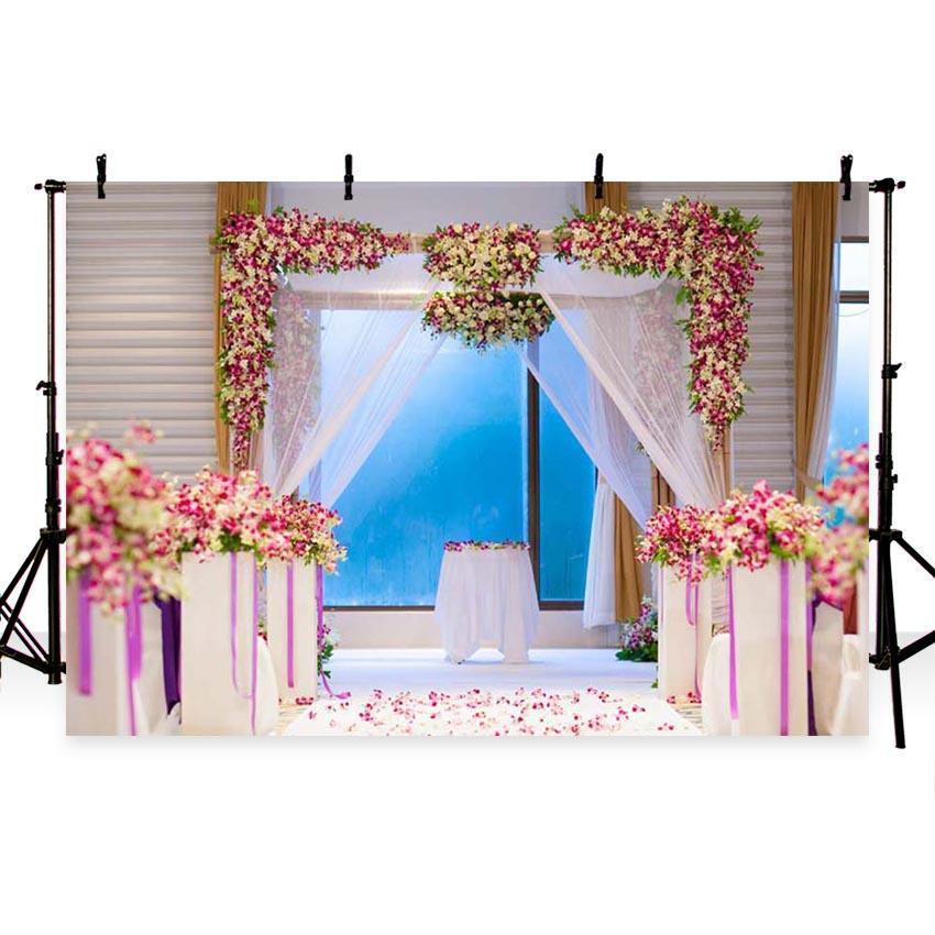 Romantic Weeding Ceremony Backdrop For Weeding Photography