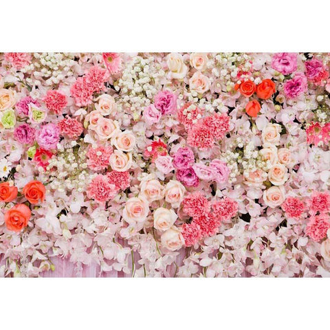 Colorful Flowers Wedding Valentine's Day Mother's Day Spring Floral Backdrops
