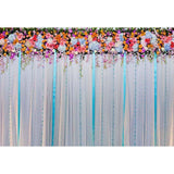 Wedding Backdrop Drapes Tablecloth Non Reflective Colorful Girl Baby Show Backdrop