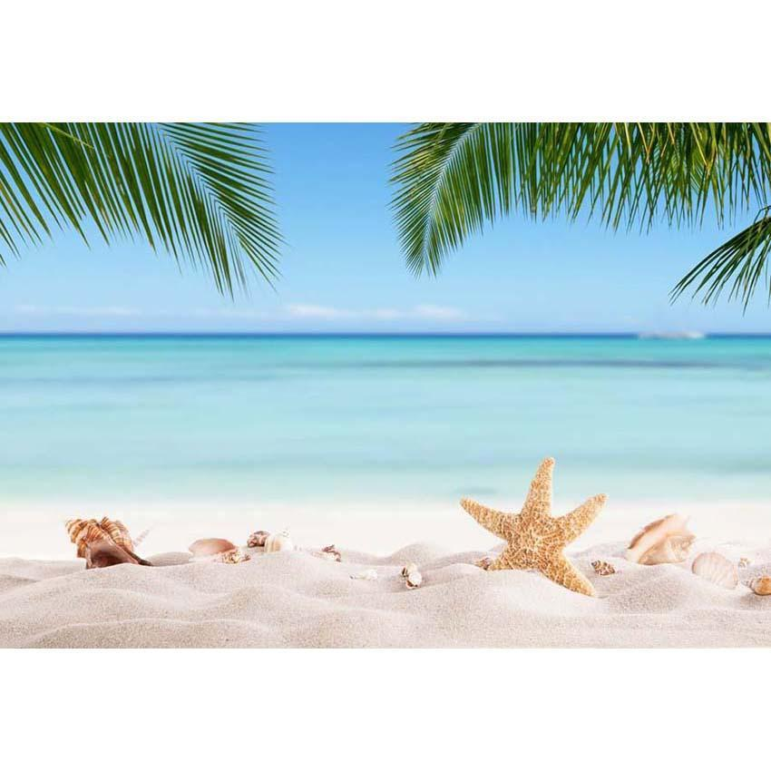 Sea Beach Blue Sky Landscape Backdrop for Summer Sea Vocation Photography