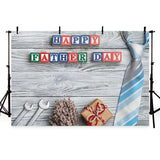 Happy Father's Day Backdrop Wood Floor Photography Background