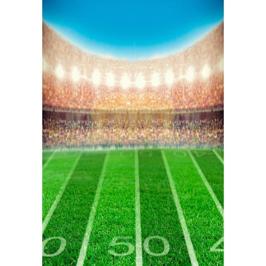 Green Grassland Stadium Backdrop Soccer Field Photography Background