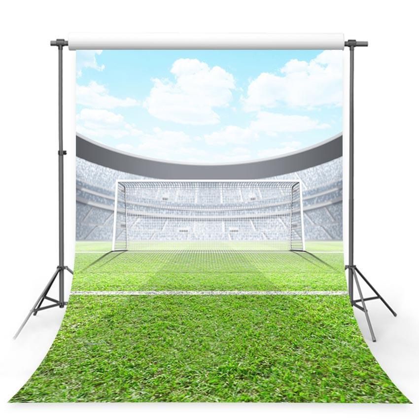 Football Field Backdrop Grassland Sports Stadium Background For Photography