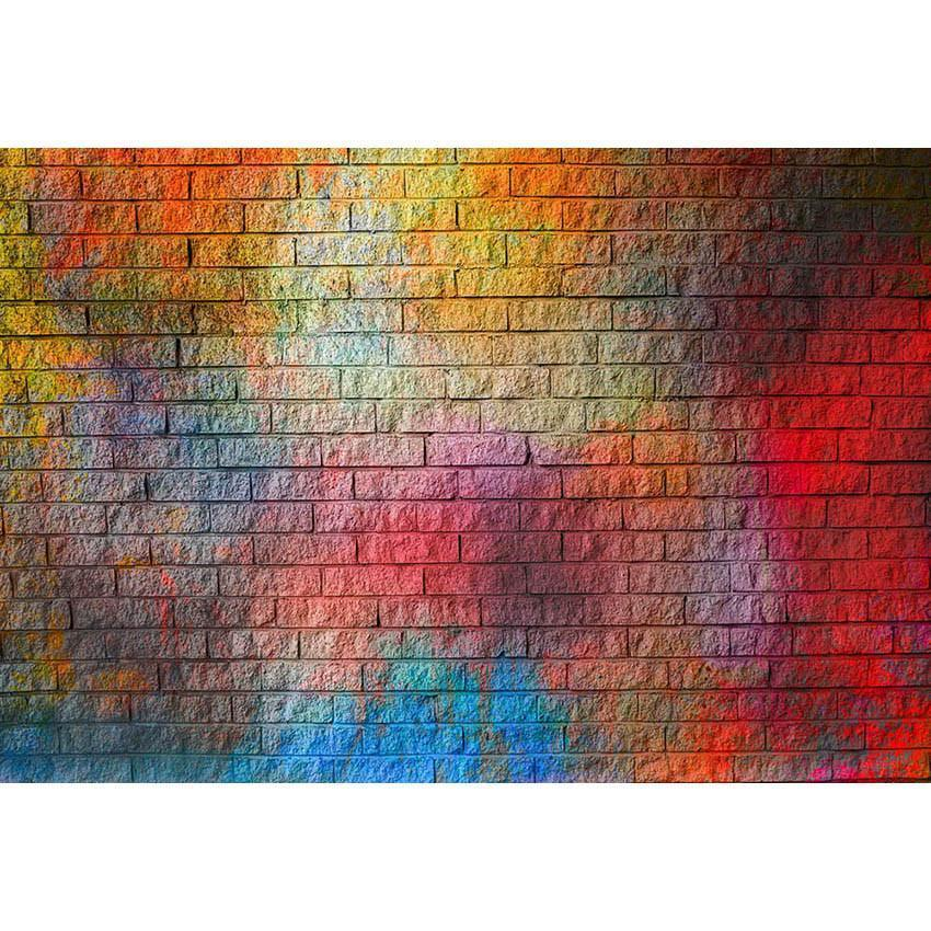 Colorful Brick Wall Backdrop Party Decoration Photography Background