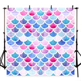 Fancy Mermaid Scales Glare Backdrop Girl Show Photograph Background