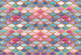 Colorful Mermaid Scales Glare Backdrop Party Photograph Background