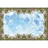 Grass Flower Decoration Blue Sky Backdrop Party Photograph Background