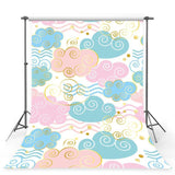 Colorful Clouds Backdrop For Baby Party Decoration Photography Background