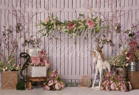 Spring Garden Backdrops for Party by Sunshine
