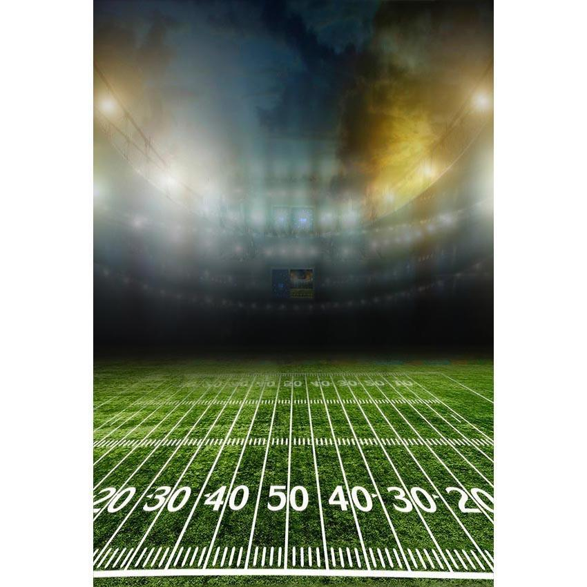 Green Grass Backdrop Night Sports Field Photography Background