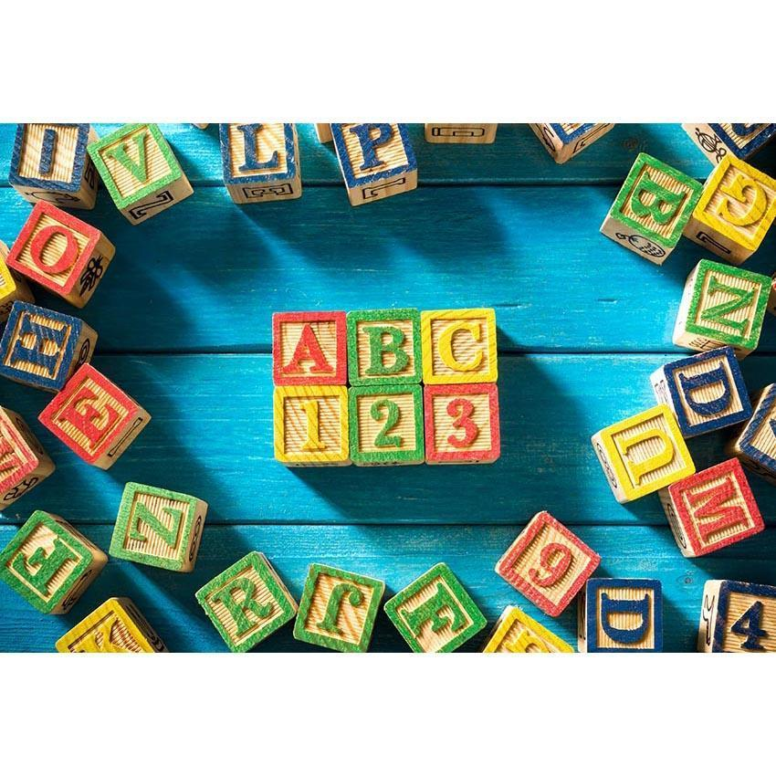 ABC 123 Backdrop Back to School Theme Background for Photography