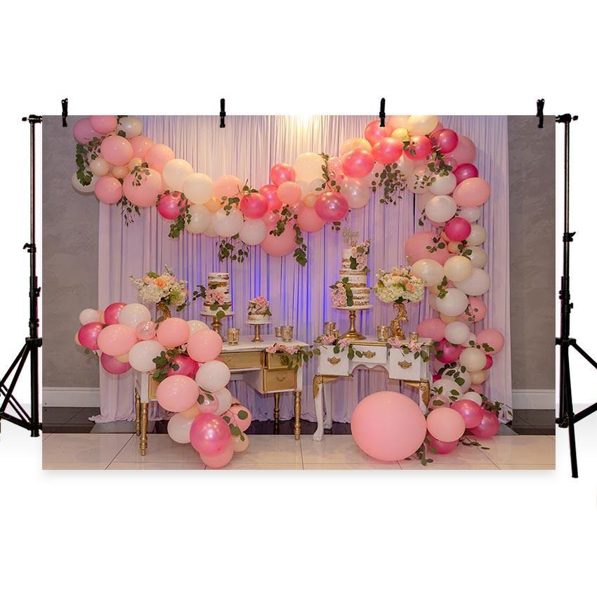 Colorful Balloons Decoration Backdrop Valentine's Day Photography Background