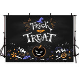 Trick Treat Pattern Backdrop Night Halloween Photography Background
