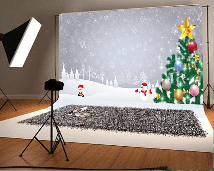 Christmas Photography Backdrop Snow Background