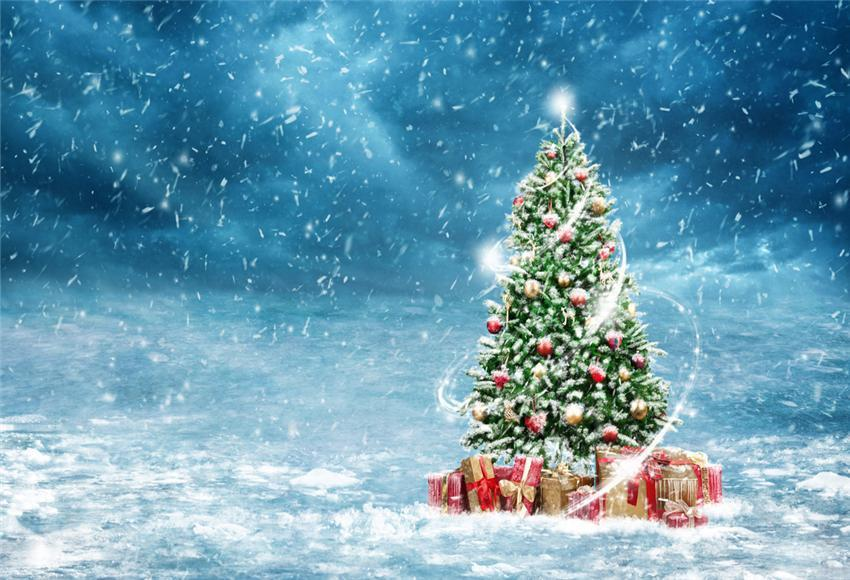 Snowflake Christmas Tree Backdrop for Party