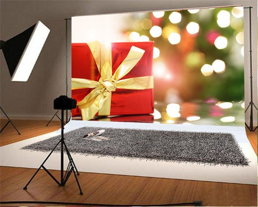 Shiny Christmas Gift Photo Back Drop