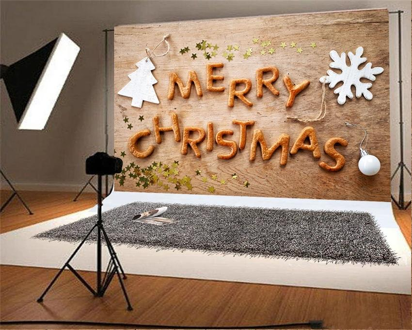 Copy of Wooden Christmas Photography Backdrops