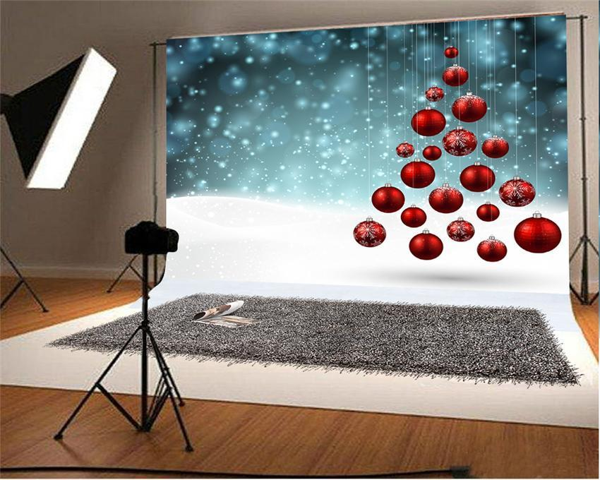Red Bell Glitter Photography Backdrops for Picture