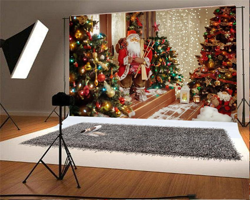 Shiny Christmas Santa Claus Photography Prop Background