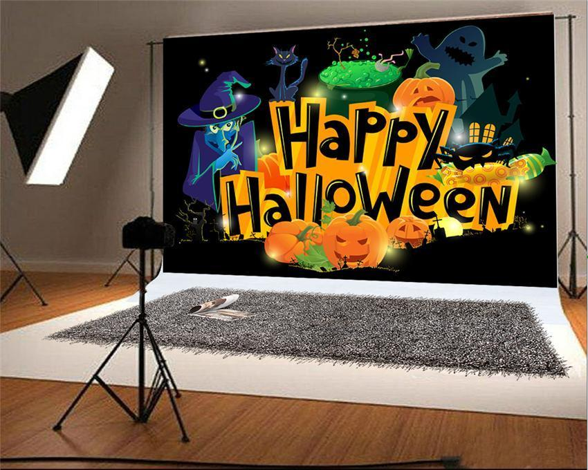 Happy Halloween Ghost Photo Backdrops