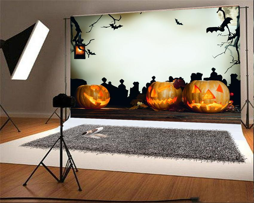 Pumpkin Light Halloween Backdrop for Picture