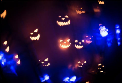 Pumpkin Light Halloween Photo Backdrops